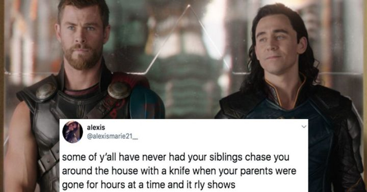 "Hilariously Funny Memes - ""Some of y'all have never had your siblings chase you around the house with a knife when your parents were gone for hours at a time and it rly shows."""