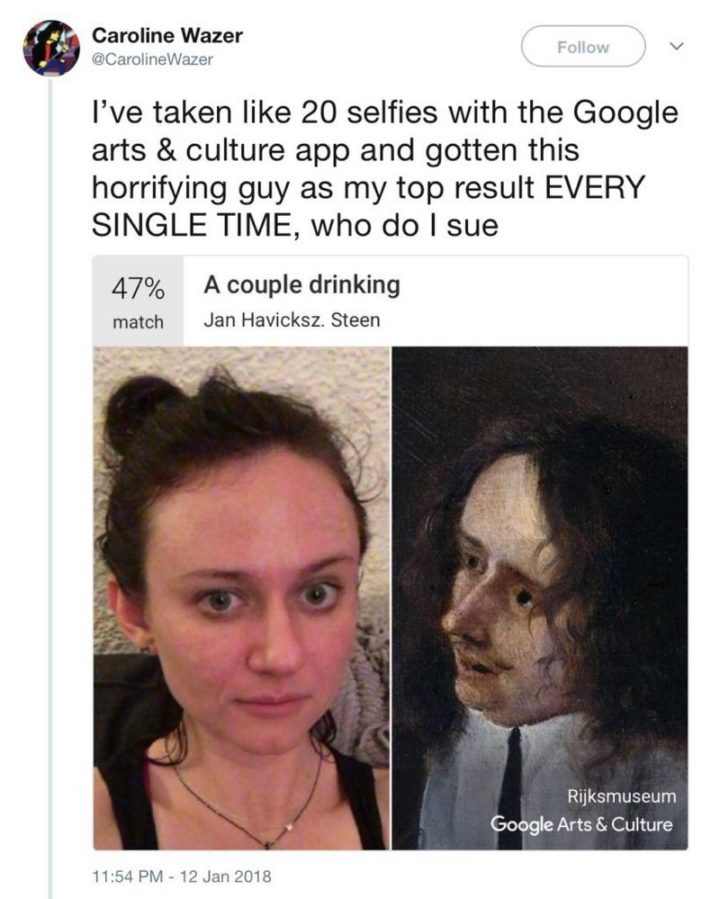 "Hilariously Funny Memes - ""I've taken like 20 selfies with the Google Arts & Culture app and gotten this horrifying guy as my top result EVERY SINGLE TIME. Who do I sue?"""