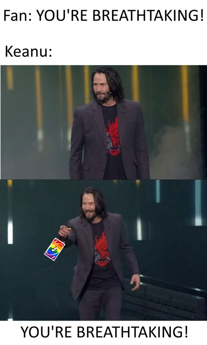 "57 Keanu Reeves Memes - ""Fan: You're breathtaking. Keanu: You're breathtaking!"""