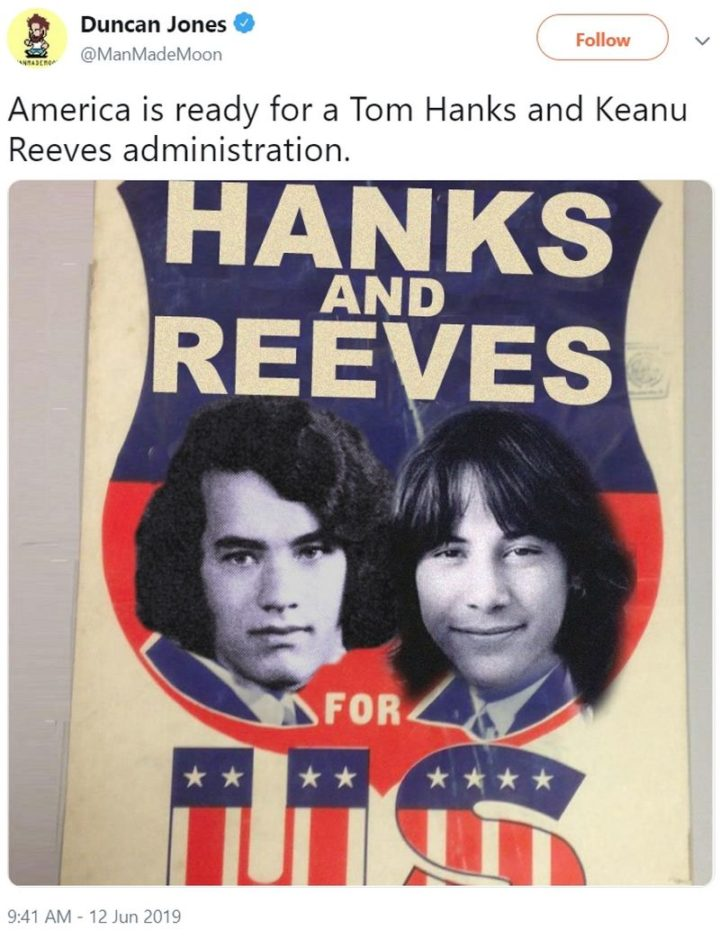 "57 Keanu Reeves Memes - ""America is ready for a Tom Hanks and Keanu Reeves administration."""