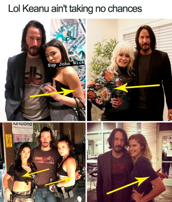 "57 Keanu Reeves Memes - ""LOL Keanu ain't taking no chances *hover hand*."""