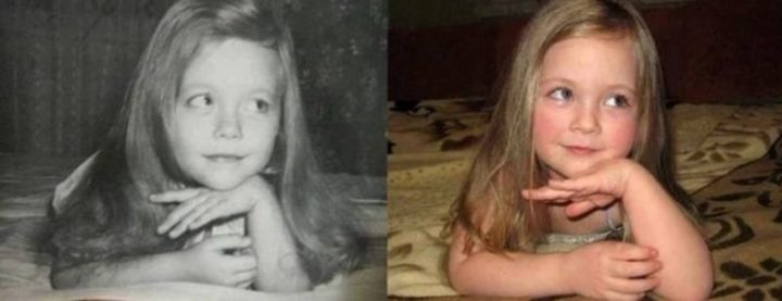 "35 Then and now pictures - ""On the left was the mother in 1980. Now in 2014, her daughter."""