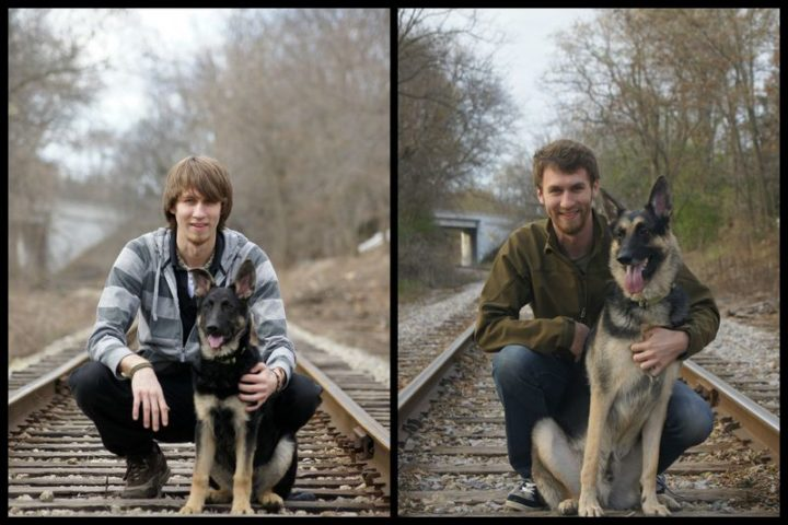 "35 Then and now pictures - ""Then and now pictures of my pup and me, four years apart."""
