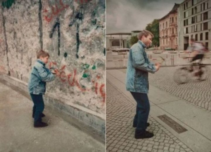 "35 Then and now pictures - ""The Berlin Wall then and now pictures."""