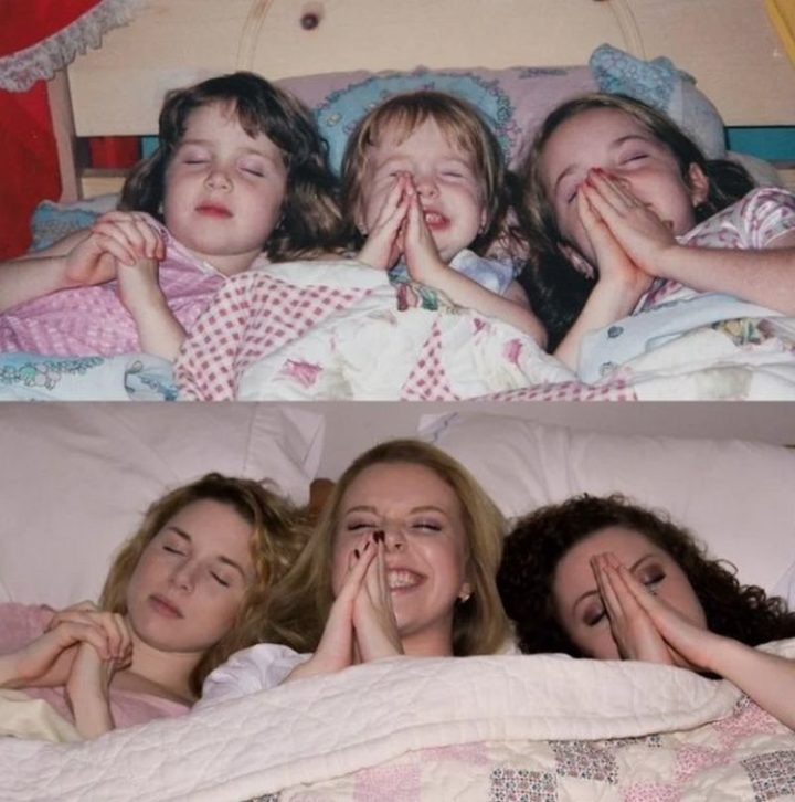 "35 Then and now pictures - ""Sisters, 15 years apart!"""
