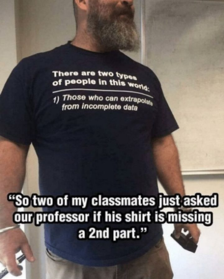 Two Types of People - Two types of professors.