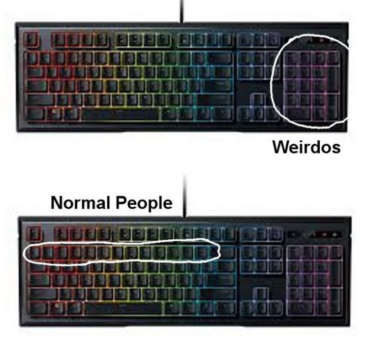 Two Types of People - Two types of keyboard users.