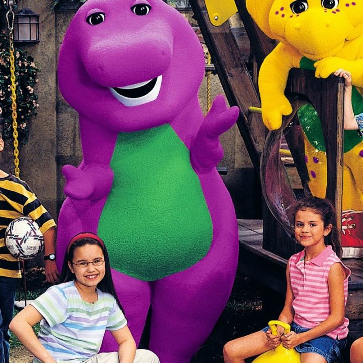 Can you spot them? A young Demi Lovato is on the left and Selena Gomez is on the right.