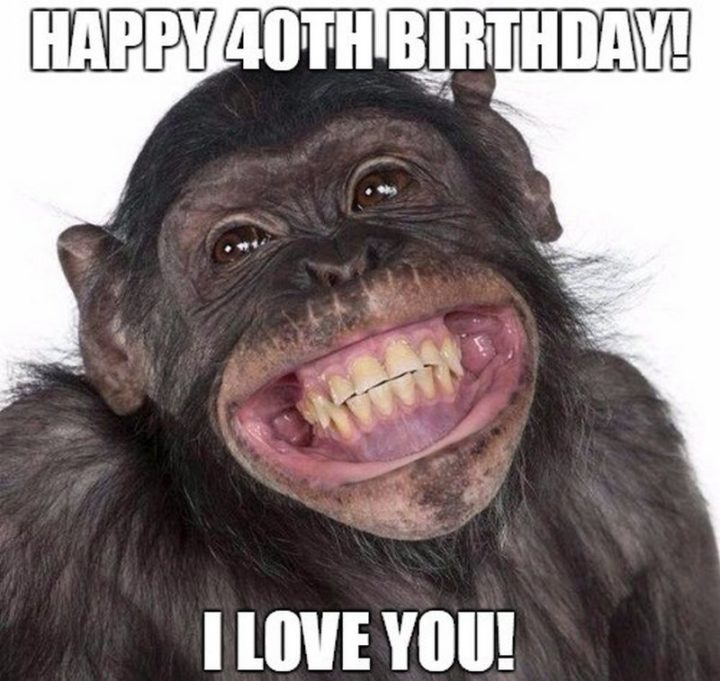 "101 Happy 40th Birthday Memes - ""Happy 40th Birthday! I love you!"""