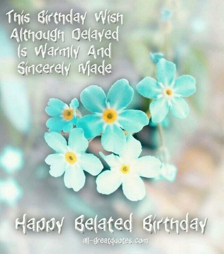 "85 Happy Belated Birthday Memes - ""This birthday wish, although delayed, is warmly and sincerely made. Happy Belated Birthday meme."""