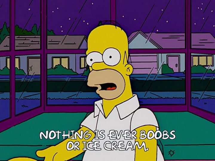 "27 Homer Simpson Quotes - ""Nothing is ever boobs or ice cream."""