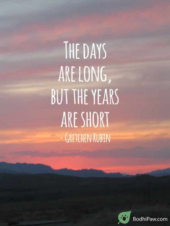 "41 Incredibly Powerful Quotes - ""The days are long, but the years are short."" - Gretchen Rubin"