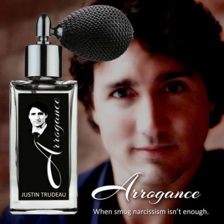 """51 Best Justin Trudeau Memes - """"Arrogance: When smug narcissism isn't enough."""""""
