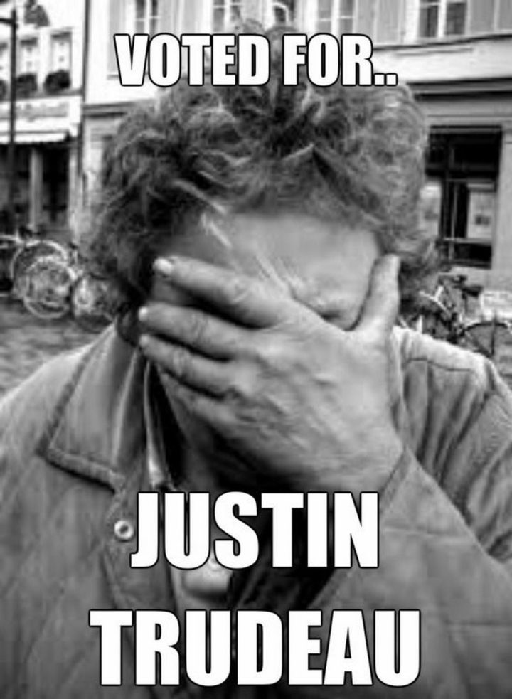 """51 Best Justin Trudeau Memes -  """"Voted for...Justin Trudeau."""""""