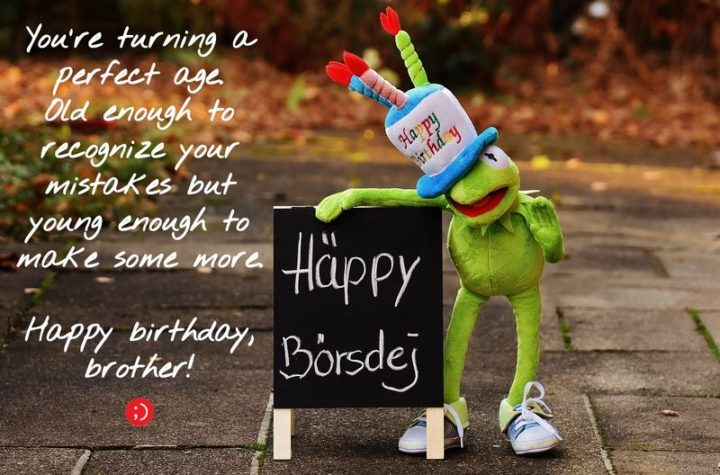 """43 Birthday Wishes for Brothers - """"You're turning a perfect age. Old enough to recognize your mistakes but young enough to make some more. Happy birthday, brother!"""""""