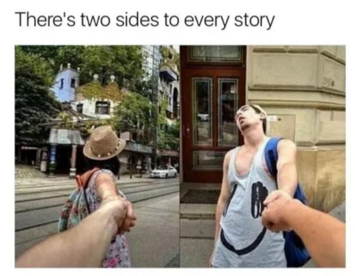"61 Boyfriend Memes - ""There are two sides to every story."" Remember the FollowMeTo couple?"