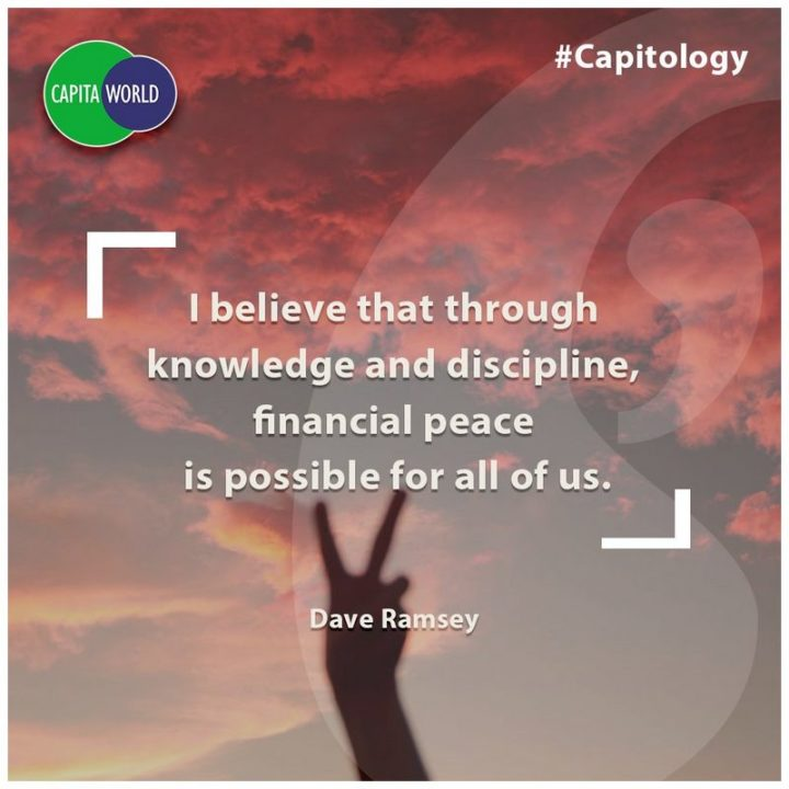 "47 Finance Quotes - ""I believe that through knowledge and discipline, financial peace is possible for all of us."" - Dave Ramsey"