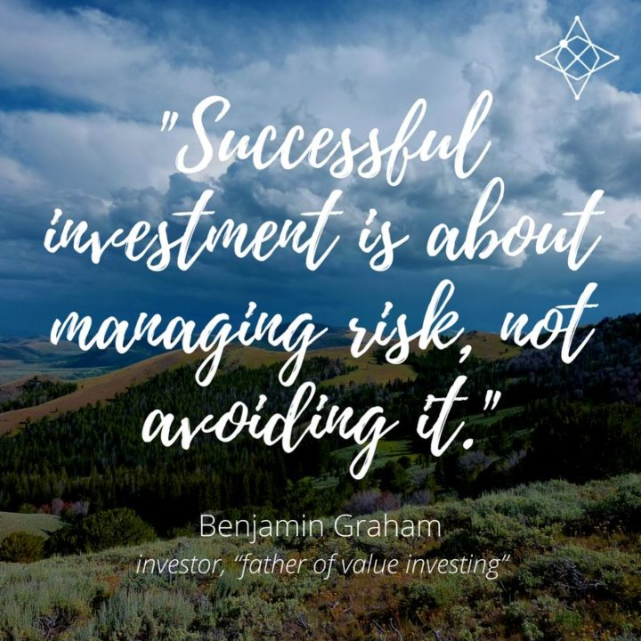 "47 Finance Quotes - ""Successful investment is about managing risk, not avoiding it."" - Benjamin Graham"