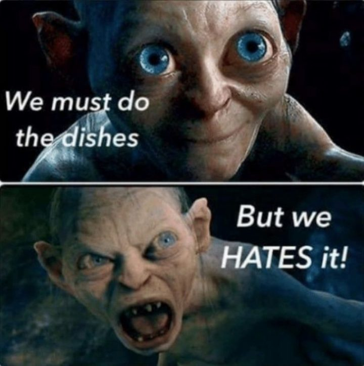 memes funny clean cleaning dishes must rated going everyone there hates viral laughing tomorrow floor re coffee