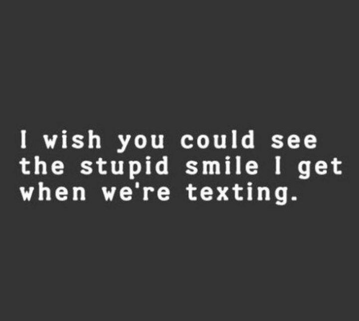 "59 Girlfriend Memes - ""I wish you could see the stupid smile I get when we're texting."""