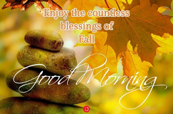 "71 Good Morning Images - ""Enjoy the countless blessings of Fall. Good morning."""