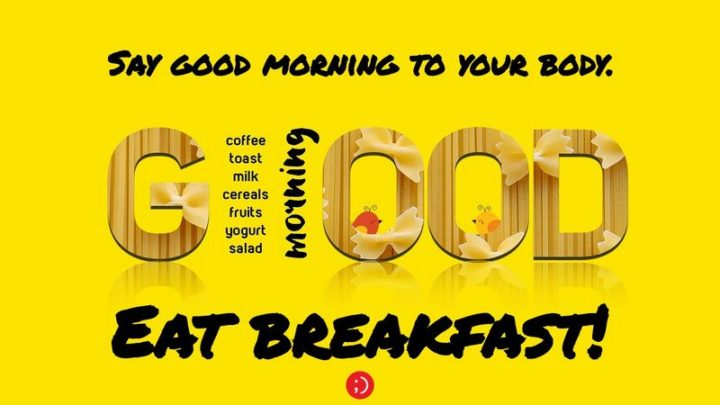 71 Good Morning Images - Good morning. Coffee, toast, milk, cereals, fruits, yogurt, and salad. Say good morning to your body. Eat breakfast!""