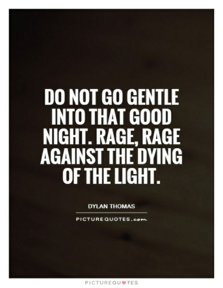 "51 Good Night Images and Quotes - ""Do not go gentle into that good night. Rage, rage against the dying of the light."""