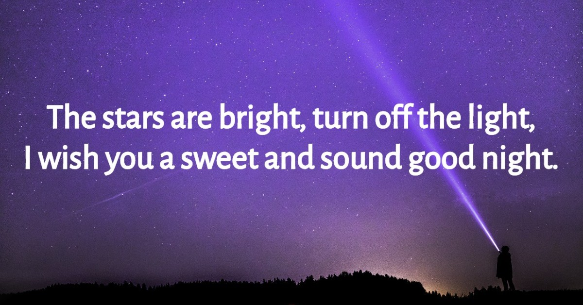 Wish good night for love