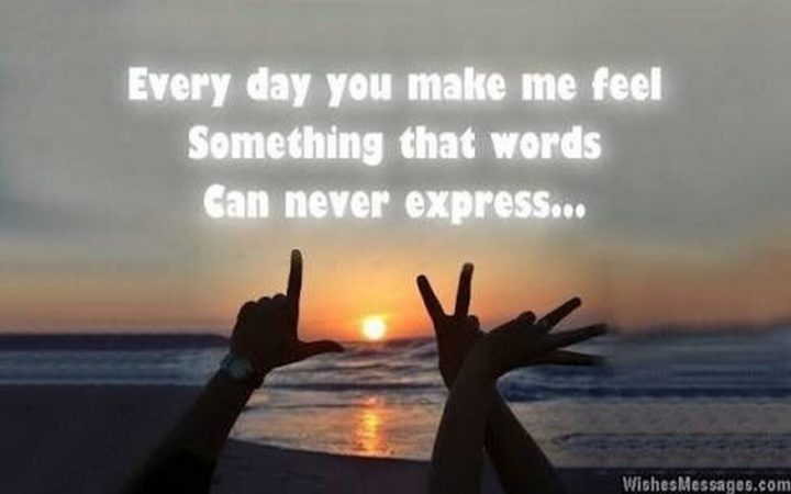 "55 Love Memes - ""Every day you make me feel something that words can never express..."""