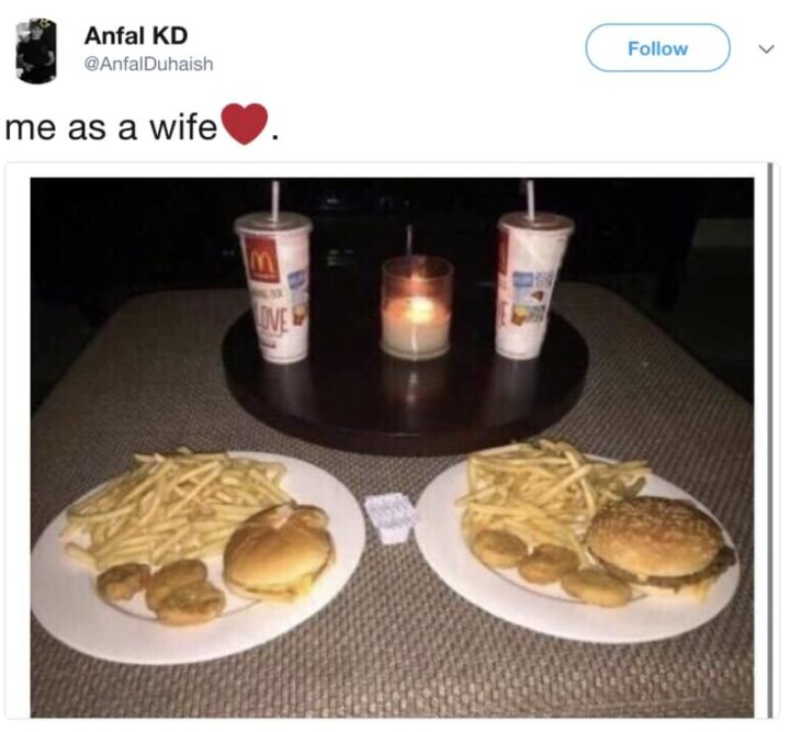"49 Marriage Memes - ""Me as a wife."""