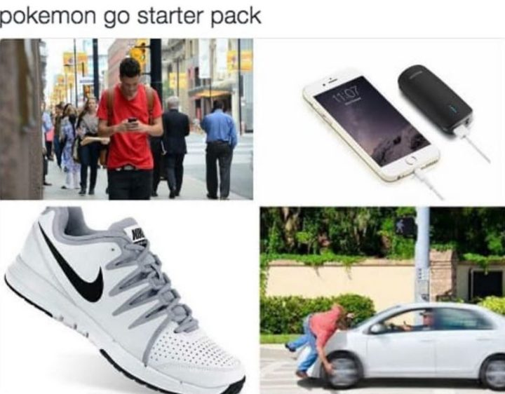 "30 Hilarious Pokémon Go Memes Only Pokemon Go Players Understand - ""Pokémon Go starter pack."""