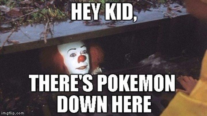 "71 Pokémon memes - ""Hey kid, there's Pokémon down here."""