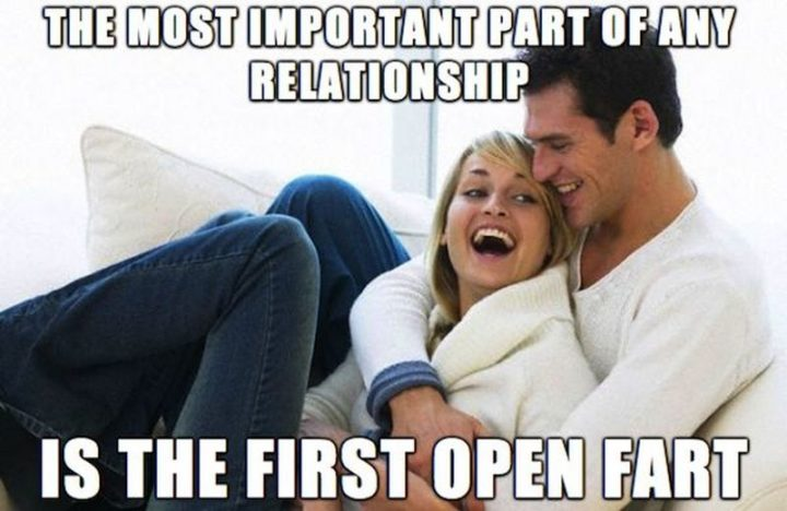 "71 Relationship Quotes - ""The most important part of any relationship is the first open fart."""
