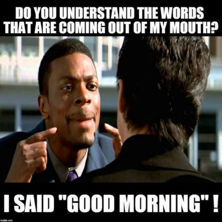 "101 Funny Good Morning Memes - ""Do you understand the words that are coming out of my mouth? I said 'good morning'!"""