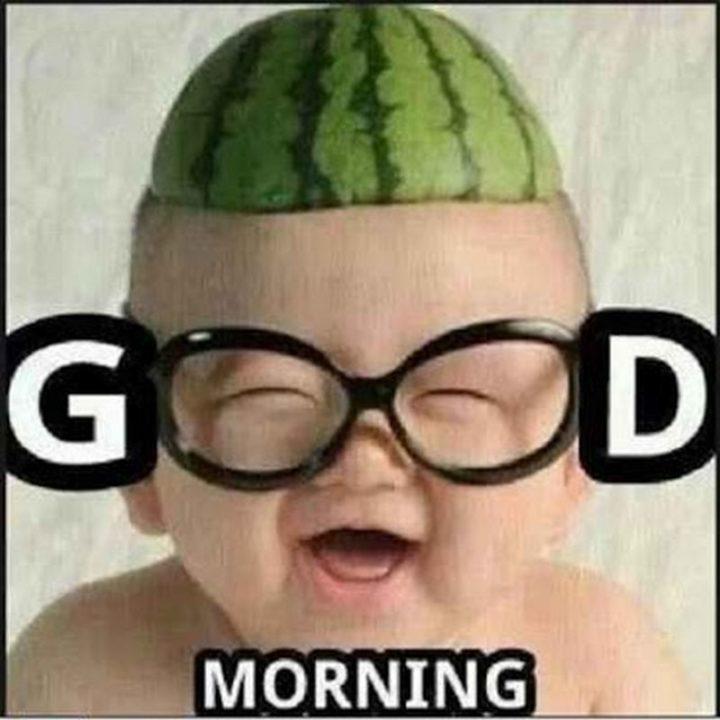 "101 Funny Good Morning Memes - ""Good morning."""