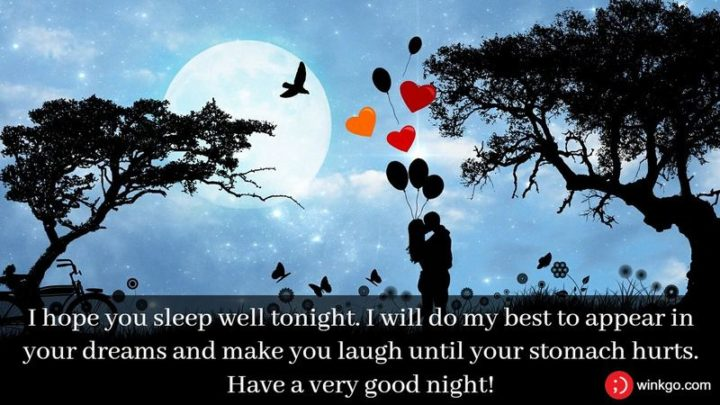 """""""I hope you sleep well tonight. I will do my best to appear in your dreams and make you laugh until your stomach hurts."""""""