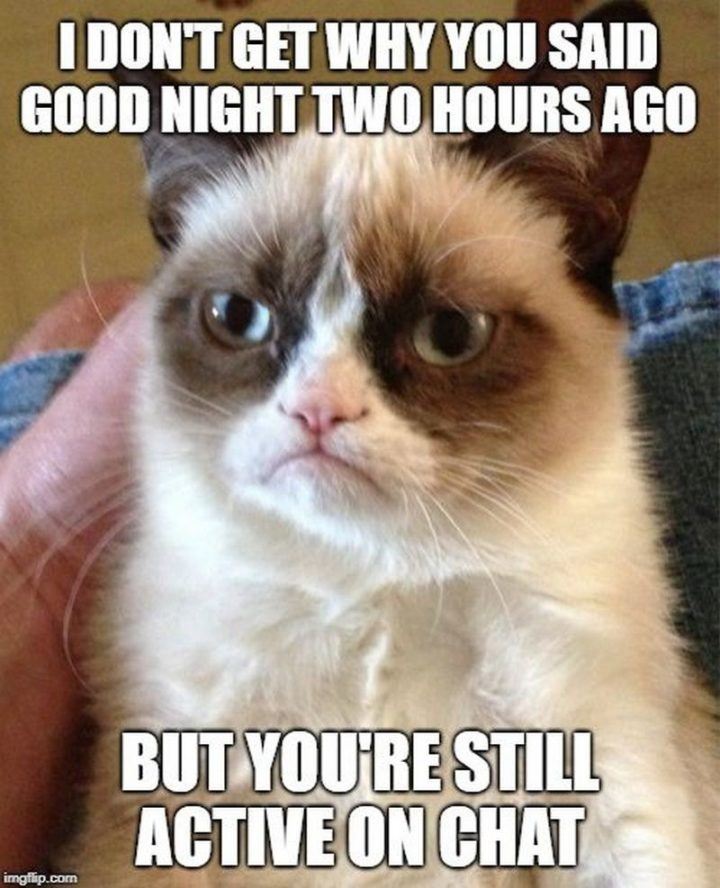 "101 Good Night Memes - ""I don't get why you said good night two hours ago but you're still active on chat."""