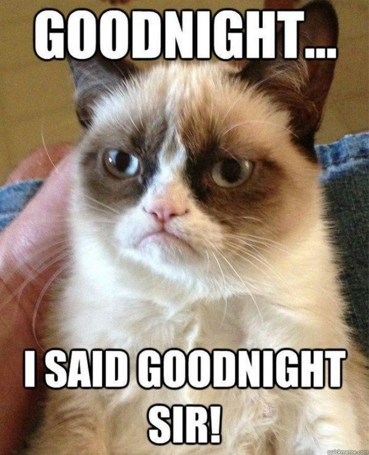 "101 Good Night Memes - ""Goodnight...I said goodnight, sir!"""