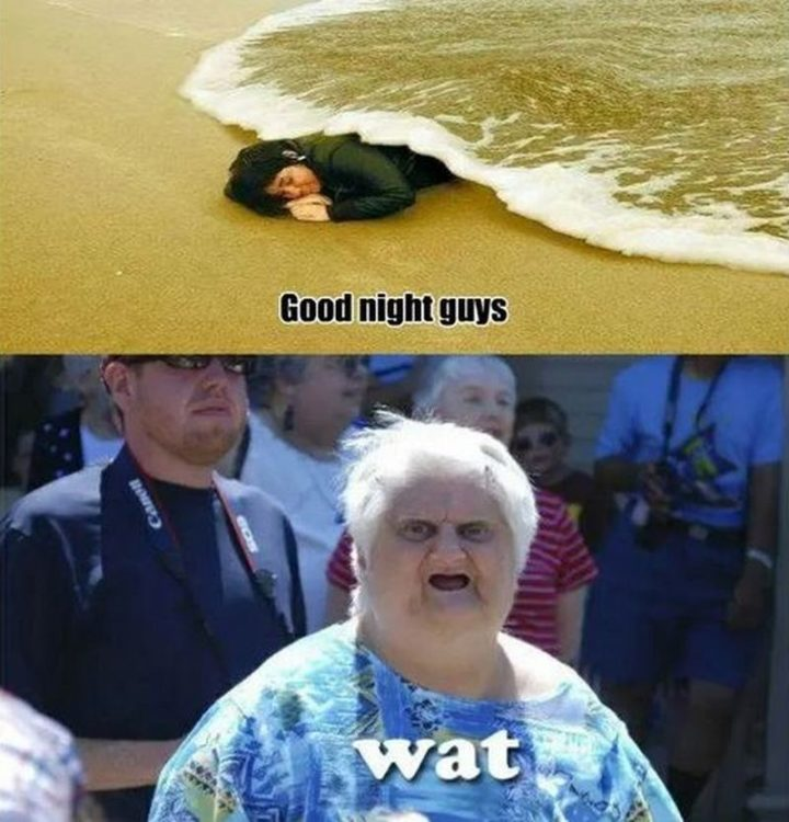 "101 Good Night Memes - ""Good night guys. Wat."""