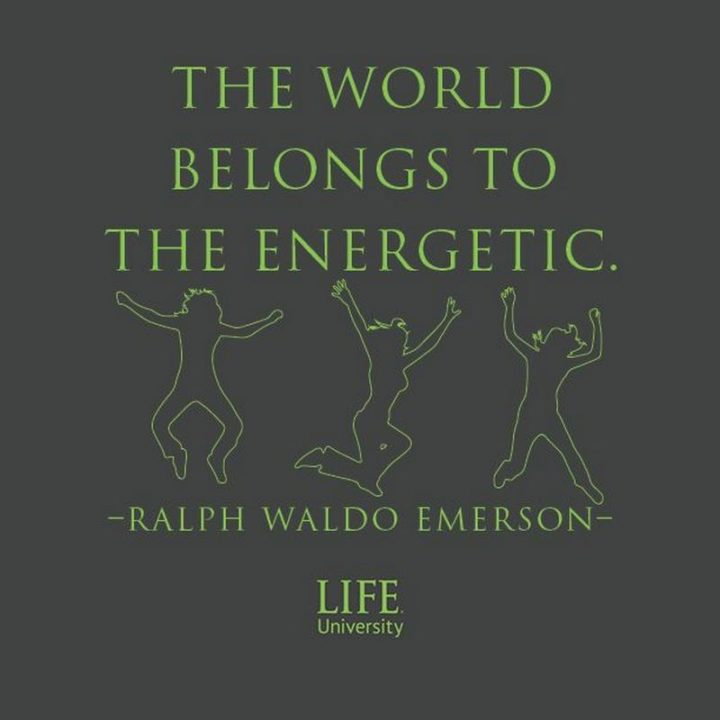 "51 Hard Work Quotes - ""The world belongs to the energetic."" - Ralph Waldo Emerson"