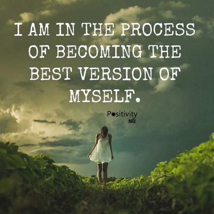 "59 Positive Memes - ""I am in the process of becoming the best version of myself."""