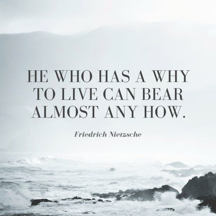 "75 Short Quotes - ""He who has a why to live can bear almost any how."" - Friedrich Nietzsche"
