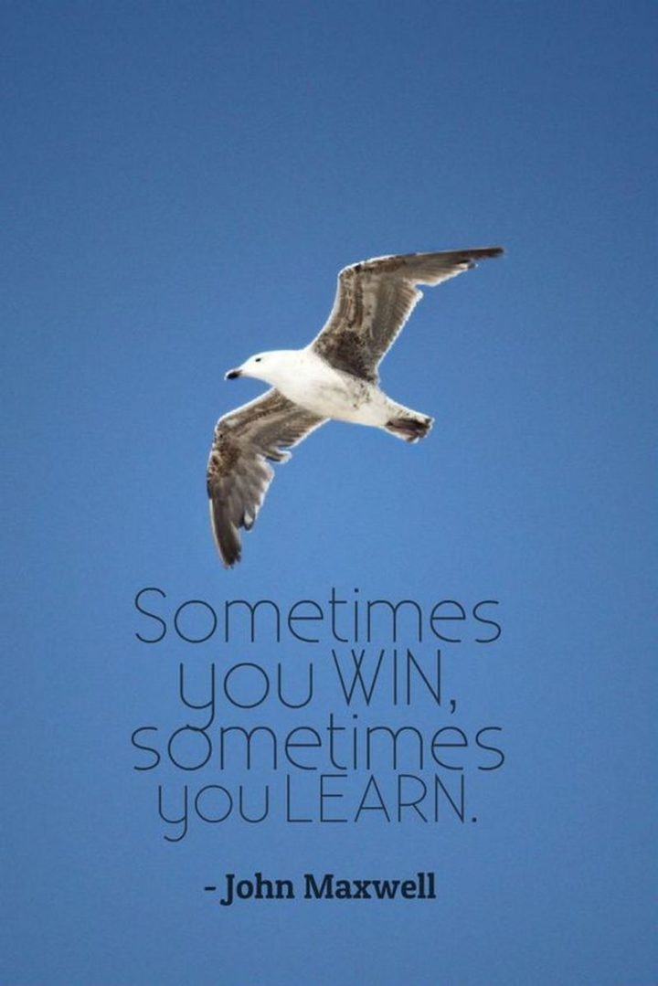 "75 Short Quotes - ""Sometimes you win, sometimes you learn."" - John Maxwell"