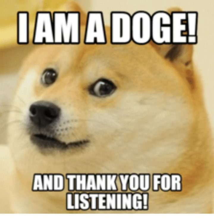 """101 Thank You Memes - """"I am a doge! And thank you for listening!"""""""