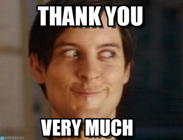 """101 Thank You Memes - """"Peter Parker: Thank you very much."""""""