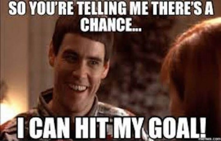 "101 You Can Do It Memes - ""So you're telling me there's a chance...I can hit my goal!"""