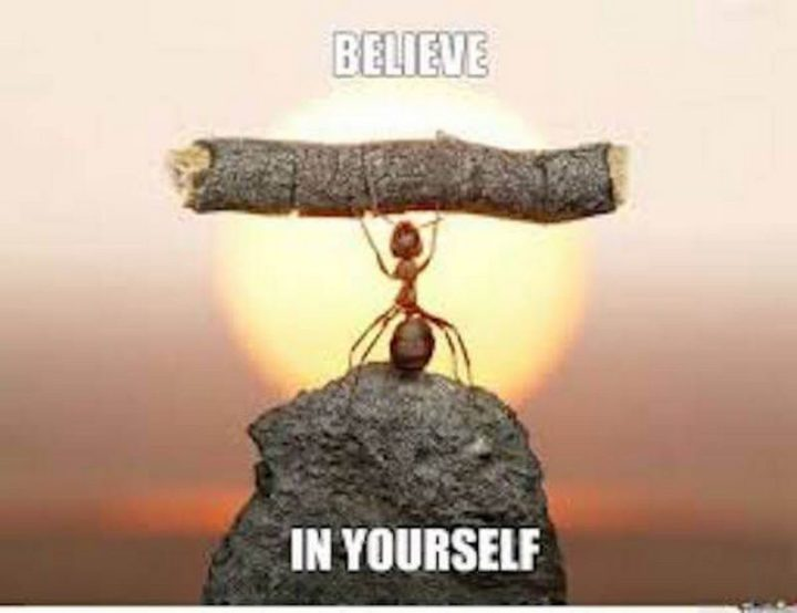 "101 You Can Do It Memes - ""Believe in yourself."""