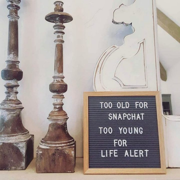 "101 Happy 50th Birthday Memes - ""Too old for snapchat. Too young for life alert."""
