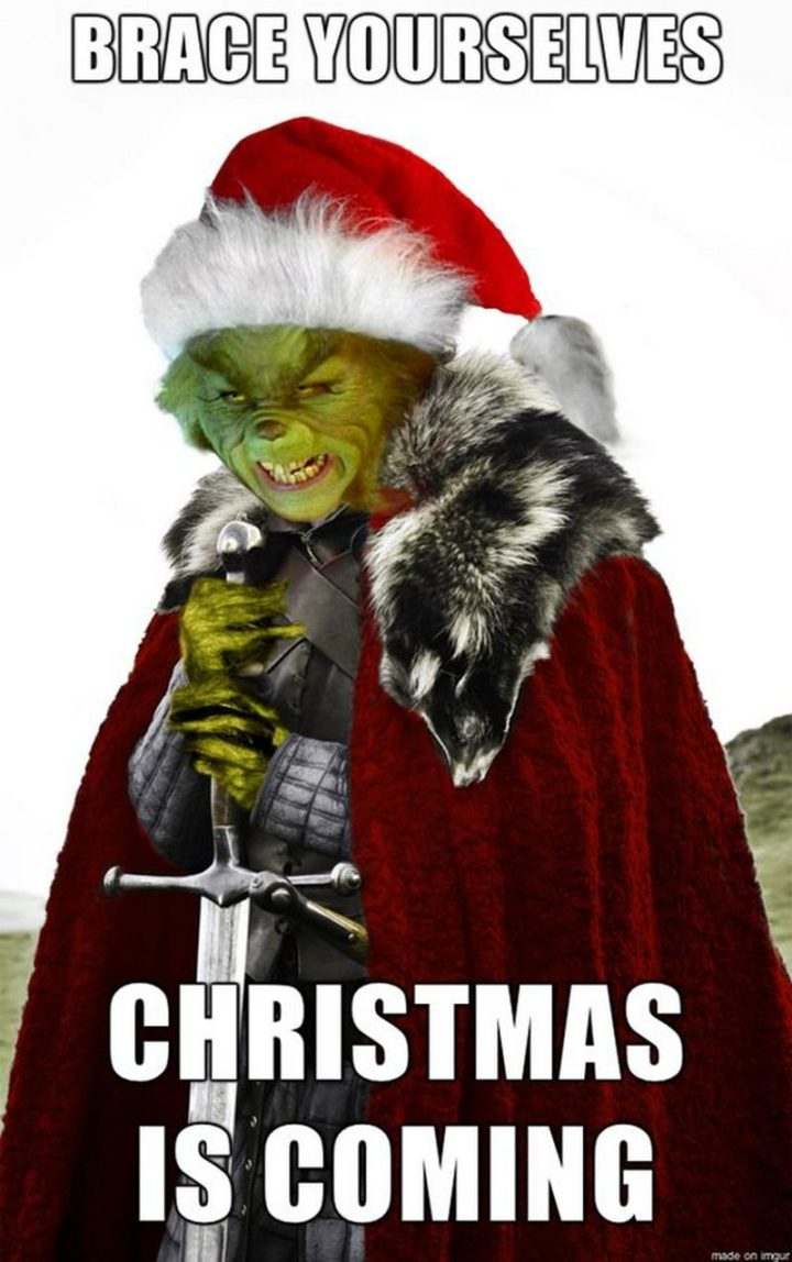 """87 Christmas Memes - """"Brace yourselves. Christmas is coming."""""""