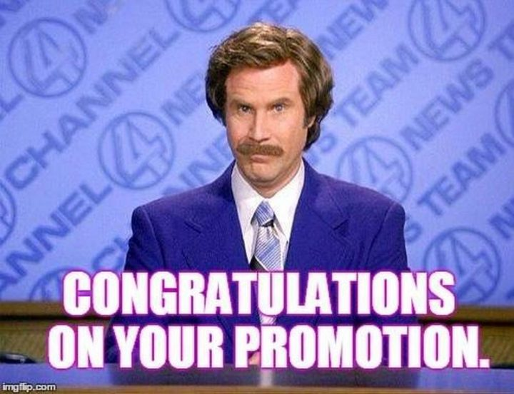"71 Congratulations Memes - ""Congratulations on your promotion."""